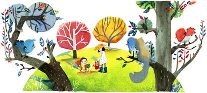 Google涂鸦植树节主题