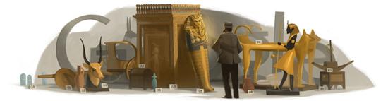 Google doodle纪念霍华德·卡特诞辰138周年