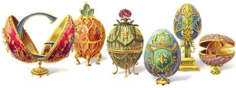 """俄国皇室彩蛋珠宝工艺大师 Peter Carl Fabergé 166 周年诞辰""""。"""