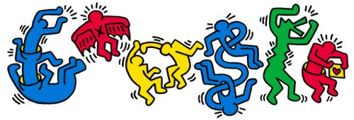 Google doodle:凯斯·哈林诞辰54周年