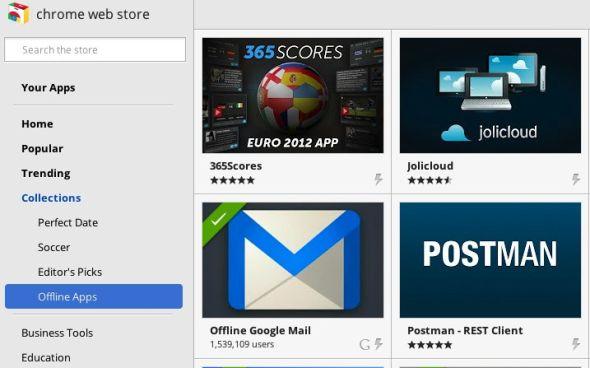 谷歌Chrome应用商店增加离线应用