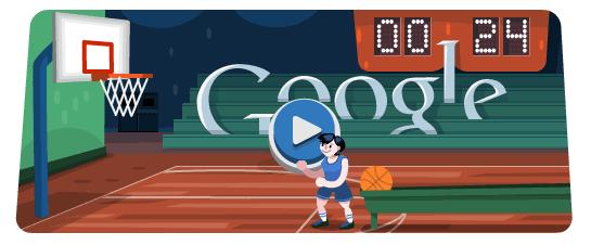 Google今日奥运主题涂鸦:投篮互动游戏