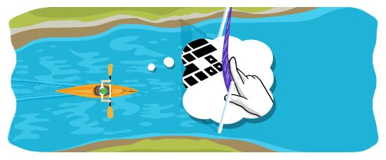 互动小游戏:单人划桨