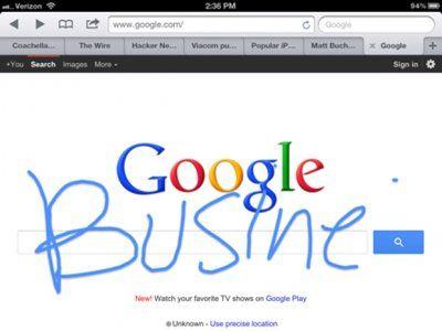 谷歌推手写搜索功能