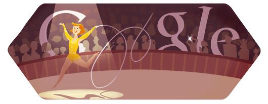今日谷歌奥运主题涂鸦:艺术体操