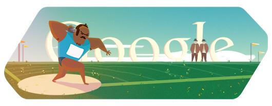 今日谷歌奥运涂鸦:铅球