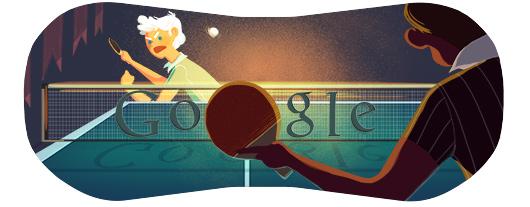 谷歌奥运doodle:乒乓球
