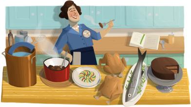 Google doodle纪念名厨Julia hild诞辰100周年