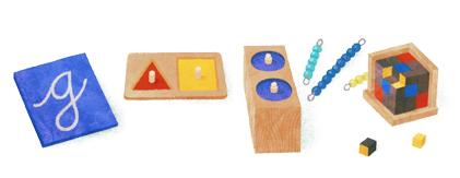 Google doodle纪念实验教育创始人montessori诞辰142周年