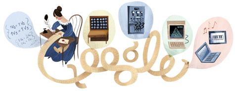 Google doodle:阿达·奥古斯塔诞辰197周年
