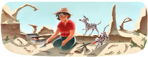 Google doodle:英国考古学家玛丽·利基诞辰100周年