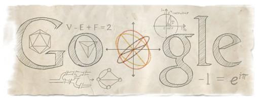google doodle纪念莱昂哈德·欧拉诞辰306周年