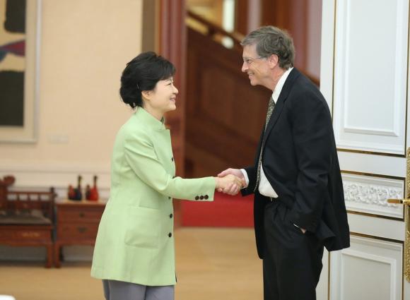 盖茨会见朴槿惠