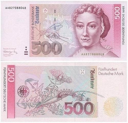 德国 1992 年发行的 500 马克纸币