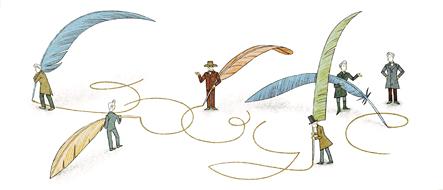 Google doodle:齐克果诞辰200周年