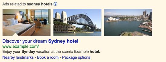 谷歌搜索图片广告测试
