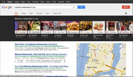 谷歌更新桌面版搜索结果页面