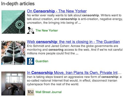 """谷歌搜索引入""""深度文章""""概念"""