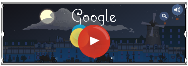 Google doodle:德彪西诞辰151周年