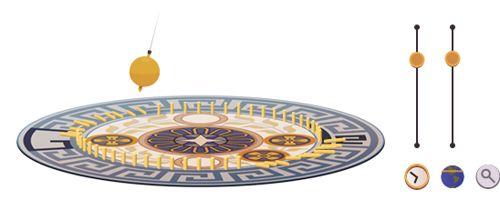Google doodle:傅科摆发明人诞辰194周年