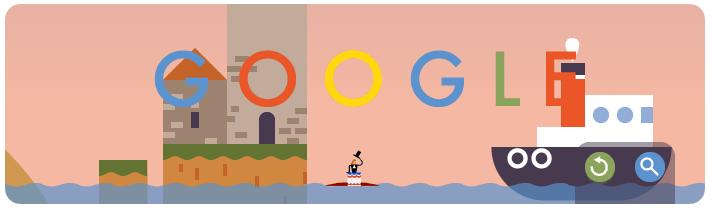 Google首页纪念人类第一次跳伞216周年