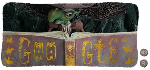Google doodle:万圣节快乐