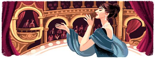 Google doodle:玛丽亚·卡拉丝90岁诞辰