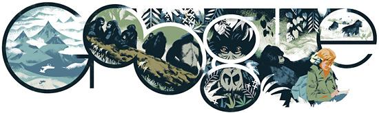 Google doodle:戴安·弗西诞辰82周年