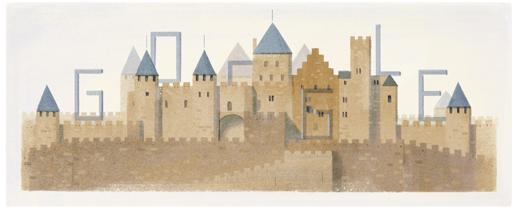 Google doodle纪念法国建筑师维欧勒·勒·杜克诞辰200周年