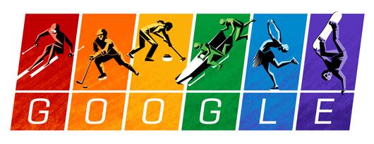 Google doodle发布2014索契冬奥会涂鸦