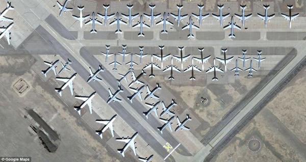 谷歌地图拍摄的飞机图像(本站配图)