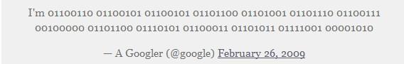 Google的第一条推文