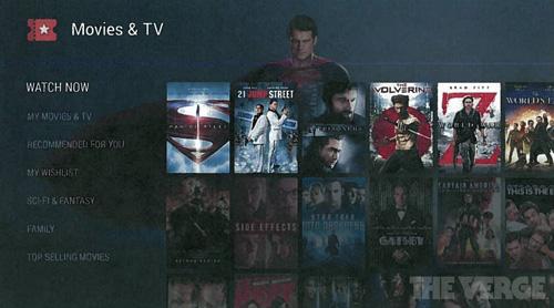 外媒曝光的Android TV界面图
