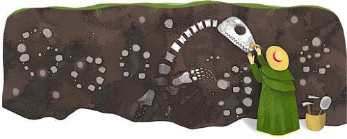 Google Doodle纪念玛丽·安宁诞辰215周年