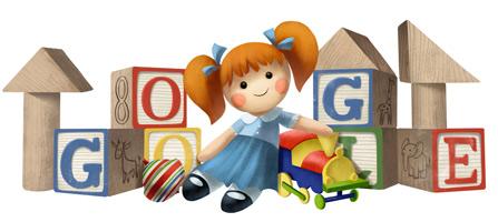 谷歌涂鸦:儿童节快乐