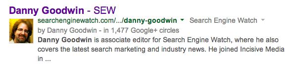 Google搜索结果中的作者图像