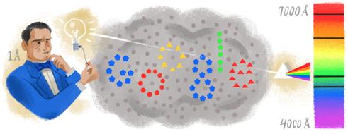 谷歌涂鸦纪念安德斯·埃格斯特朗诞辰200周年
