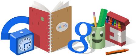 谷歌涂鸦:2014开学日