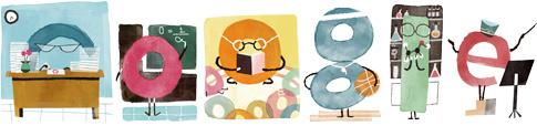 谷歌涂鸦庆祝教师节快乐