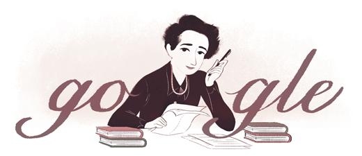 Google doodle:汉娜·阿伦特诞辰108周年