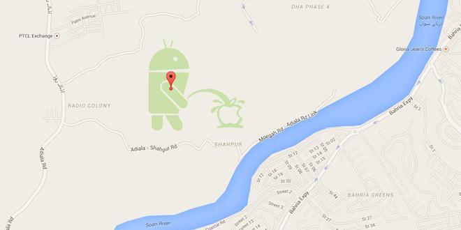 谷歌地图Android机器人尿尿事件