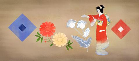 Google Doodle:上村松园诞辰140周年