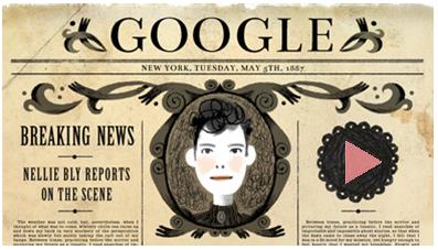谷歌涂鸦纪念娜丽·布莱诞辰151周年