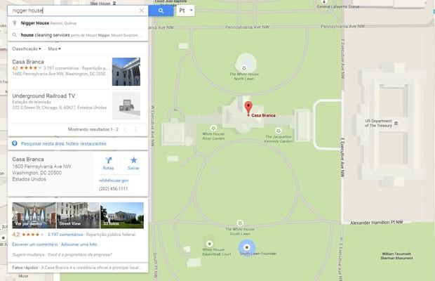 谷歌地图涉嫌种族歧视