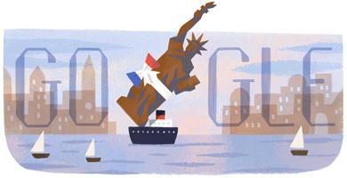 自由女神抵达纽约130周年