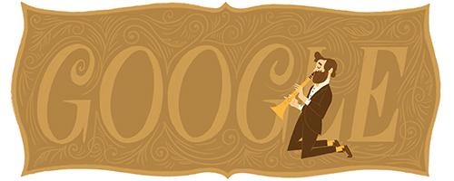谷歌首页纪念萨克斯发明人诞辰201周年