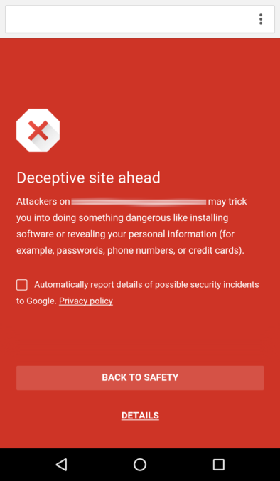 Android版Chrome浏览器开启安全模式