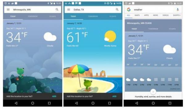 谷歌天气图标迎来大更新