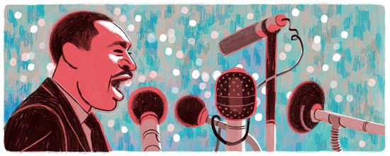 谷歌涂鸦:马丁·路德·金纪念日