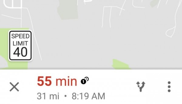 谷歌地图增加限速标志